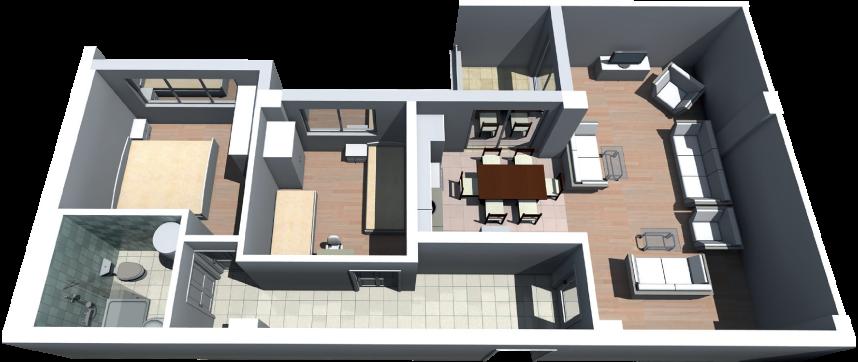 Banesë 2 dhomëshe  87 metër katrorë